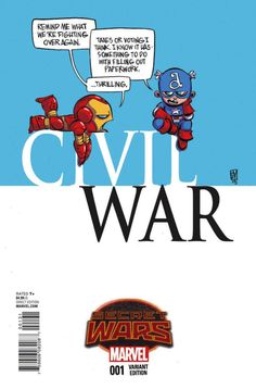 Skottie Young does the greatest Civil War variant cover ever. So amazing!