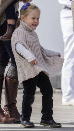 Princess Josephine of Denmark does not appear to care for her poncho