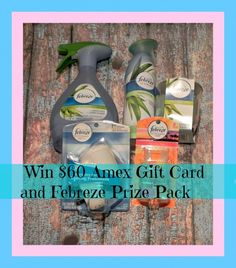 My Febreze #Noseblind Test Experience - $60 Amex Gift Card and Febreze Prize Pack Giveaway!