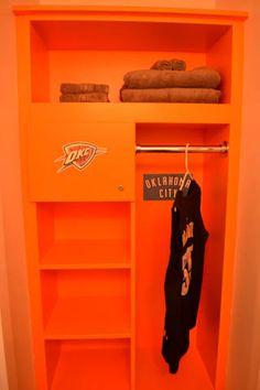 Perfect Sports Bedroom: Closet As A Locker Room. So Cute!