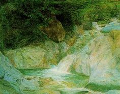 John Ruskin: Waterfall at Brantwood. Ruskin Library Ruskin and the Lake District Exhibition