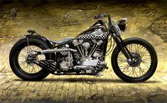 Not much beats a Knucklehead Harley › Harley Davidson Knucklehead 1946 Andrea Del Pesco Artwork