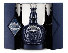 Created in 1953 to mark the coronation of Queen Elizabeth II, Royal Salute is this year continuing with tradition by celebrating the Queen's 60 year reign with the launch of the Royal Salute Diamond Jubilee Limited Edition.    The bottle is made from hand-blown and hand-cut crystal and is finished with a show-stopping solid cut crystal stopper. It is presented in a hand-crafted display box.