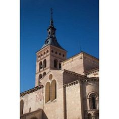 Plaza San Martin and San Martin Church Segovia Spain Canvas Art - Walter Bibikow DanitaDelimont (18 x 24)