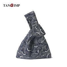 d5d136565f45 TANGIMP 2017 Geometric Cotton Wristlets Bags Japanese Style Handbags Simple  Coin Purse for Gift Original Big
