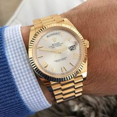 Brand names like Rolex and Cartier carry an air of authority that real… Rolex Watches For Men, Best Watches For Men, Luxury Watches For Men, Men's Watches, Rolex Day Date, Stylish Watches, Cool Watches, Elegant Watches, Rolex Presidential