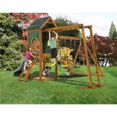 Plum Products Kudu Wooden Play Centre www.