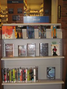 """You've heard of """"Chick Lit"""", right?  Why isn't there a genre for guys?  More and more novels are coming out geared towards the interests of male teens.  Come ask the media specialist what we have that might sounds cool to you!"""