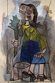 La femme à l'artichaut, 1941 Pablo Picasso #picasso #art