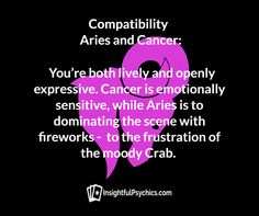 25 Best Aries Cancer Compatibility Images Zodiac Signs Aries