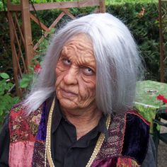 Old Witch Prosthetic Make-up - Platsil Gel 10