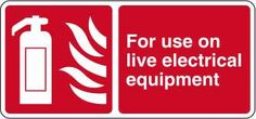 For use on live electrical equipment £0.99 #signs #fire