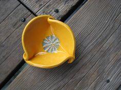 Orange Ring Dish  Little Pottery Dish  Cone Incense by WhiteCitrus