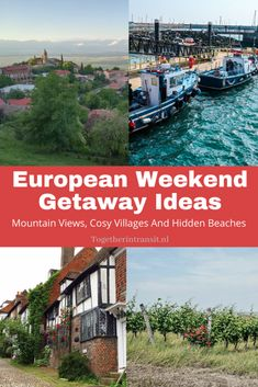 European Weekend Getaway Ideas: Mountain Views, Cosy Villages And Hidden Beaches - Together In Transit Europe On A Budget, Travel Tips For Europe, Travel Destinations, Travel Abroad, Weekend Trips, Weekend Getaways, Monaco, Bucket List Europe, Beach Activities