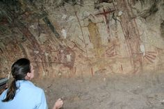 Panther Cave prehistoric native pictographs - Seminole Canyon