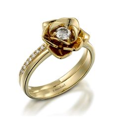 14k Yellow Gold Ring. Floral/ Flower shape by CMichaelJewelry