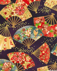 Japanese Textiles, Japanese Patterns, Japanese Prints, Japanese Design, Japanese Paper, Japanese Fabric, Polymer Clay Painting, Asian Design, Oriental Pattern