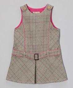 Cinza da manta de lã com cinto-Mistura Jumper - Bebês e Meninas