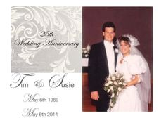 Today May 6th I married my best Friend my husband Tim we have been together for 25 years our silver Wedding Anniverary wow it seems like yesterday we ran to church to get married! Cannot wait to be with you Tim for another 25 years I love you for being my everything! XO Susie