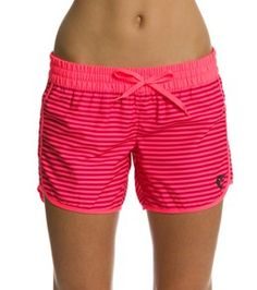Would be so cute with a white bikini top...Hurley Women's Supersuede Solid 5 Beachrider Boardshort
