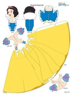 Snow White cut out paper models