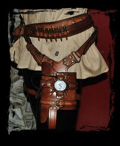 leather steampunk holster for maverick nerf gun by ~Lagueuse on deviantART