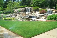 waterfall for nw corner of lot