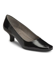 Another great find on #zulily! Black Patent Dimperial Pump by A2 by Aerosoles #zulilyfinds-29.99