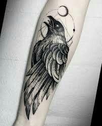 #tattoo #arm #raven