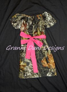 Mossy oak peasant dress pink toddler girl baby boutique birthday camo camouflage