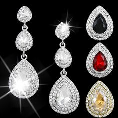 Find More Drop Earrings Information about Long crystal earrings wedding silver long earings fashion jewelry rhinestone red earrings silver with stones brincos ers h21,High Quality earrings ads,China earring settings white gold Suppliers, Cheap earrings for baby girls from ORISON Jewelry & Factory on Aliexpress.com