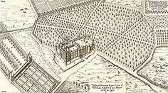 Château de Vallery construit par  Pierre Lescot: vue générale du domaine au 16°s. - Réalisations de Pierre Lescot:  Le Jubé de St-Gervais l'Auxerrois (Paris) de 1540 à Noel 1545, détruit en 1750. - Le chateau de Vallery de 1555 à 1559.  - la fontaine des Innocentes, initialement appelée fontaine des Nymphes, construite en 1547 et 1549. Elle sera déplacée et remaniée (1788 puis 1860).- L'Hôtel Carnavalet, de 1549 à 1554, dénommé Hôtel de Ligneris à l'origine et achevé par François Mansart…