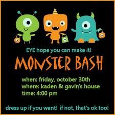 Monster Party Invite