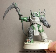 Between the Bolter and Me: Putrid Blightkings: Death Guard Terminator Conversion 3 Finished