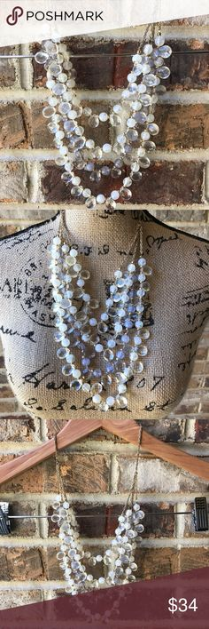 🍁J Crew Statement Necklace VGUC. Beautiful beautiful beaded necklace. In natural light parts looks slightly lavender in color. 💰Reasonable offers welcome. Photos may not be used without permission. ⬇️8/1 J. Crew Jewelry Necklaces