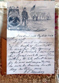 vintagesusie & wings  civil war letter