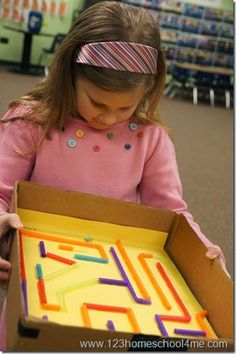 STEM - Straw Maze Kids Activity