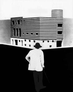 """sixtensason: """" Adolf Loos, design of a house for Josephine Baker, Paris, 1927-28 """""""