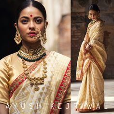 Bridal Saree by Ayush Kejriwal For purchases email me at designerayushkejriwal@hotmail.com or what's app me on 00447840384707 We ship WORLDWIDE. Classy Wear, Indian Bridal Sarees, Desi Bride, Bollywood Fashion, Saree Fashion, Women's Fashion, Fashion Outfits, South Indian Bride, Lakme Fashion Week