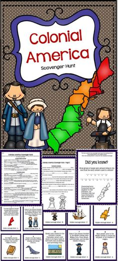 Colonies Scavenger Hunt Activity {New England, Middle, Southern} - For the intermediate/middle grades!
