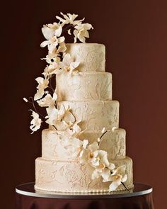 """""""Champagne Silk Kimono Cake,"""" selected by Brides Magazine as one of the 50 Most Beautiful Cakes in America, from Something Sweet by Michelle"""