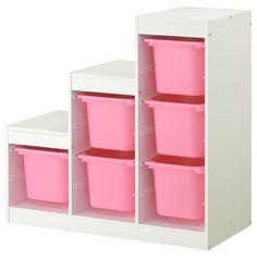 TROFAST saklama ünitesi beyaz-pembe 100x44x94 cm   IKEA IKEA Çocuk