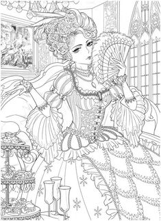People Coloring Pages, Detailed Coloring Pages, Cute Coloring Pages, Printable Coloring Pages, Adult Coloring Pages, Coloring Book Art, Traditional Japanese Tattoos, Lowbrow Art, Fairy Art