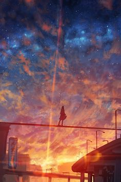 Inspirationally Sane By Art And Music Wallpaper Animes, Anime Scenery Wallpaper, Animes Wallpapers, Cute Wallpapers, Fantastic Wallpapers, Sky Anime, Anime Galaxy, Aesthetic Anime, Aesthetic Art