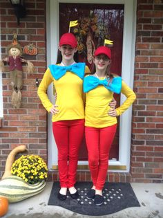 Every week I will try to pin at least 1 diy costume. Tweedle Dee and tweedle Dum!