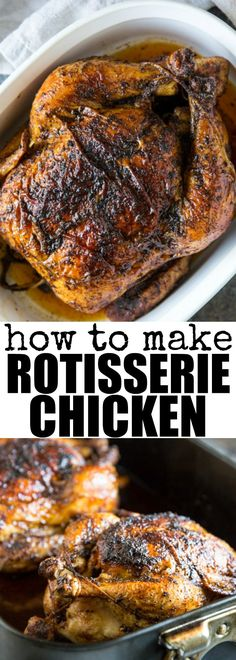 Learn how to make Rotisserie Chicken at home using a simple spice blend and a whole chicken or any combination of chicken pieces.