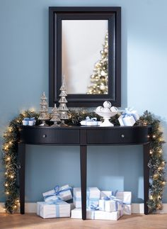 How do you decorate your entryway? #holidays #holiday2012 HomeDecorators.com