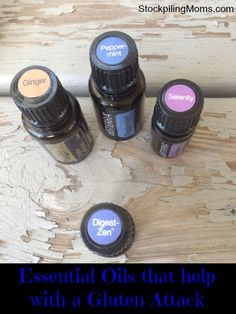 Essential Oils that help with a Gluten Attack (I never go out to eat or travel without these essential oils).