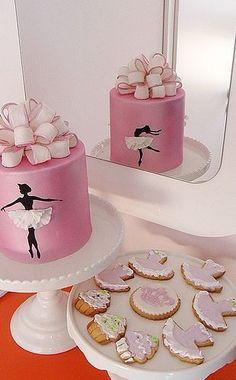Ballet Birthday Cakes, Butterfly Birthday Cakes, Ballet Cakes, Twin Birthday Cakes, Ballerina Cake Pops, Pretty Cakes, Cute Cakes, Ballarina Cake, Cheerleading Cake