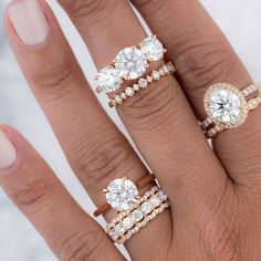 Whatever your style is - we've got you covered! #heartsonfire #heartsonfireco #arthursjewelers  #love #happiness #positivevibes #weddingband #engagementring #imengaged #weddingring #futuremrs #heputaringonit #howheasked #ringbling #theknotrings Unique Diamond Engagement Rings, Engagement Ring Styles, Unique Rings, Jewelry Show, Jewelry Stores, Jewellery, Stacked Wedding Bands, Wedding Rings, Diamond Bands